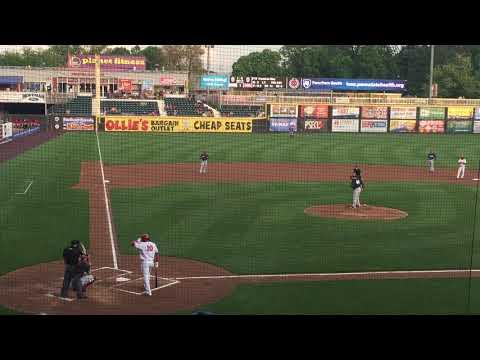 Juan Soto rips 2-run double in first at-bat for Harrisburg Senators