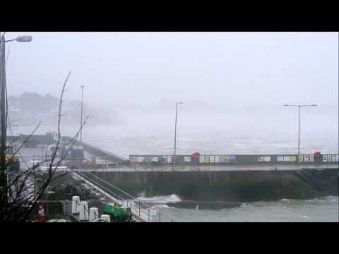 Storm force winds in Baltimore Harbour, Ireland