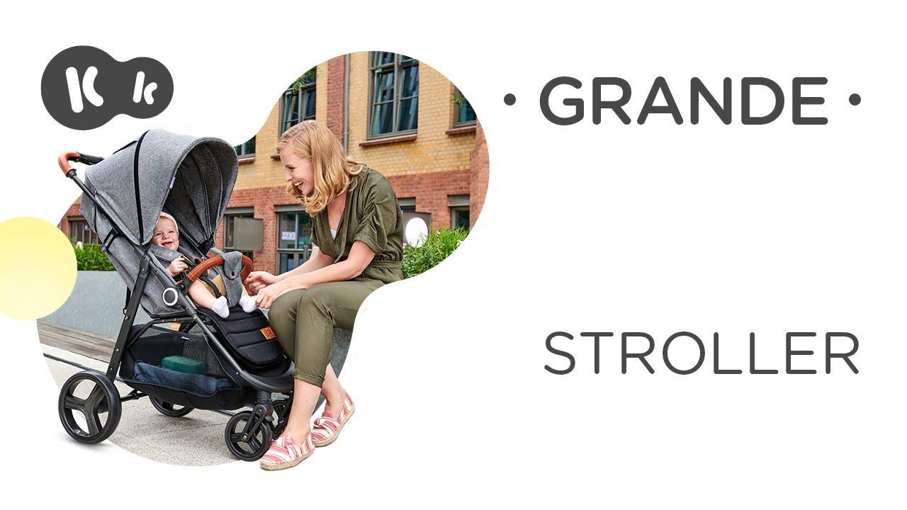 a5024925249 Бебешка количка KinderKraft Grande, Сива