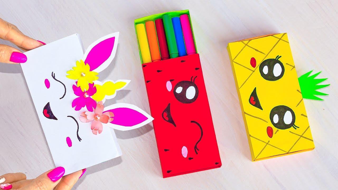 Как сделать пенал из бумаги своими руками | Не оригами коробочка для карандашей | Origami box paper