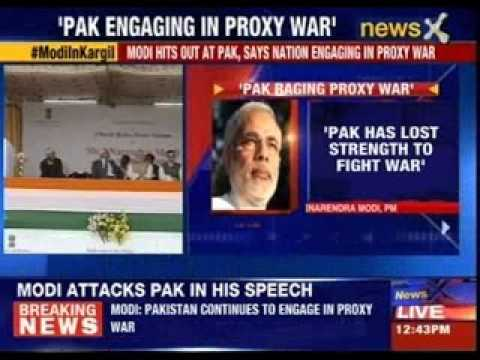 Narendra Modi hits out at Pakistan, says nation engaging in proxy war