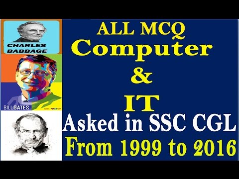 |Only| All MCQ COMPUTER and IT Asked in SSC CGL from 1999 to 2016
