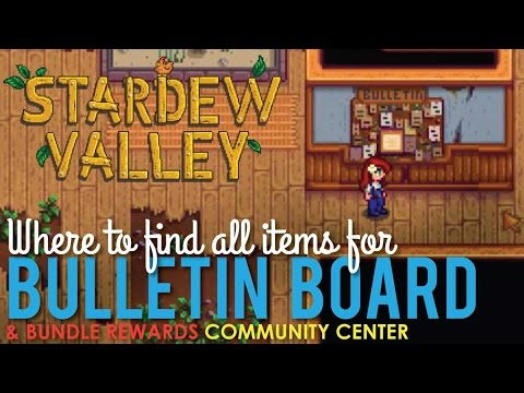Community Center Bulletin Board, Where to find all Items
