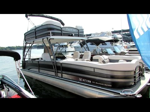 2014 Premier 310 Boundary Waters Pontoon Boat - Walkaround - 2014 Montreal In Water Boat Show