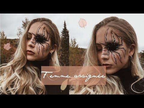 Maquillage HALLOWEEN: Araignée  Jade Lemelin