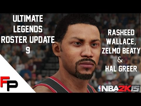 NBA 2K15 - Rasheed Wallace, Hal Greer And Zelmo Beaty - Ultimate Legends Roster - Update 9