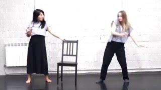 Контактное жонглирование с реквизитом.(Контактное жонглирование с использованием реквизита (стул). Поиски взаимодействия с партнером, шаром в..., 2015-12-06T16:17:15.000Z)