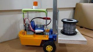 RC forklift build DIY converted Tamiya kit