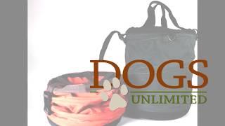 Mud River Dog Products, Feed & Retrieve Food Bucket, Green