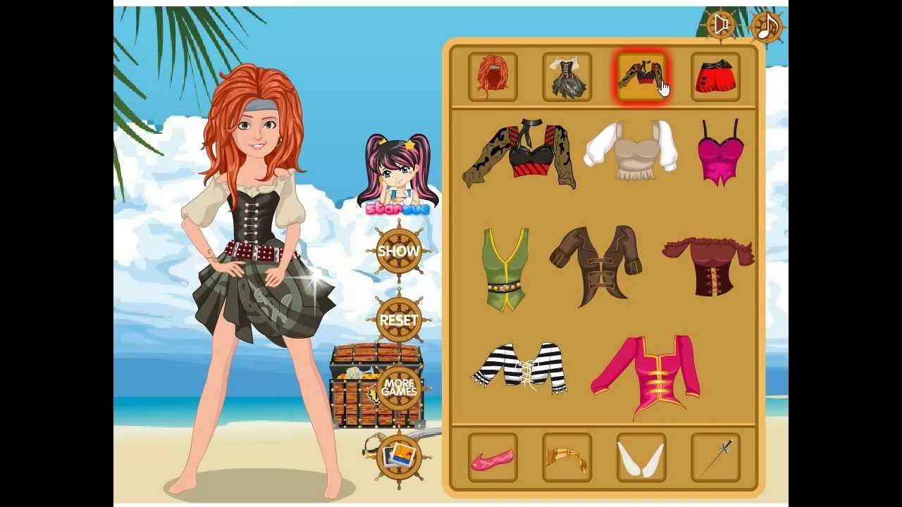 Dress up fairy games - Zarina The Pirate Fairy Dress Up Game Preview