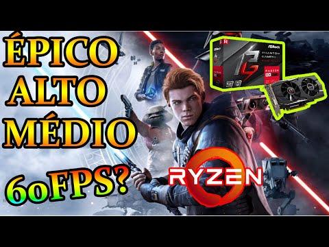 Ryzen 1600 + RX570 + 8GB - Star Wars Jedi: Fallen Order (Épico/Alto/Médio)