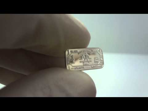 1 gram silver Libra zodiac bullion bar .999 fine