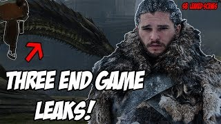 3 END GAME Leaks! Game Of Thrones Season 8 LEAKED Scenes (Spoilers)