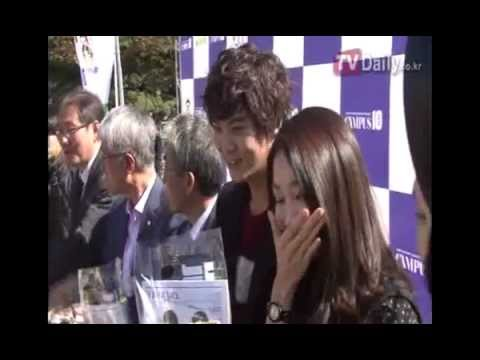 121023 Uie and Joowon at Sungkyunkwan University Campus 10 event