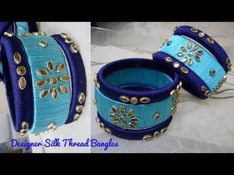 diy-designer-silk-thread-kundan-bangles-||-phiroji-navy-blue-silk-kangan-||-its-makeover-tym