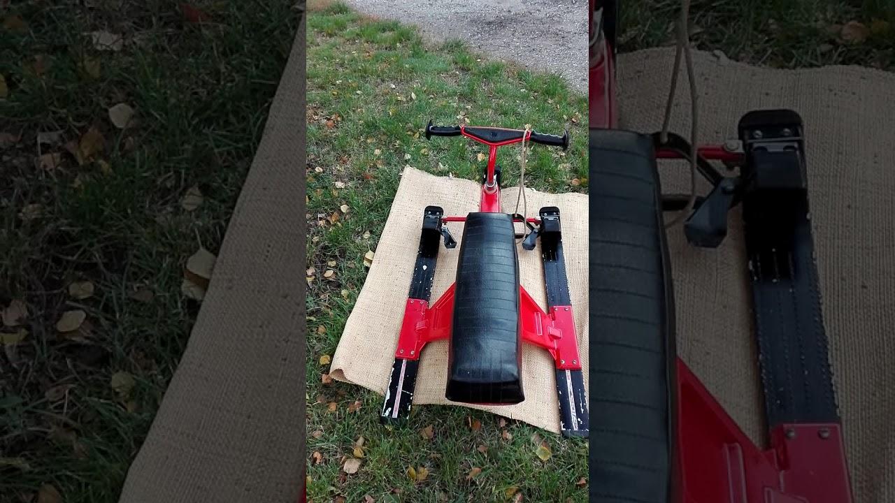5be9c9cd7c7d SZÁNKÓ eladó, fémvázas, fékkel, kormányozható, bőrüléssel - YouTube