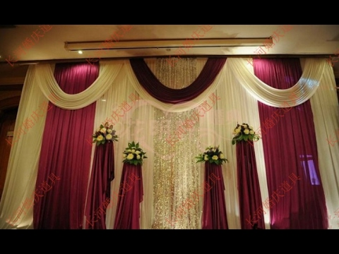 Wedding stage background decoration youtube for Background stage decoration