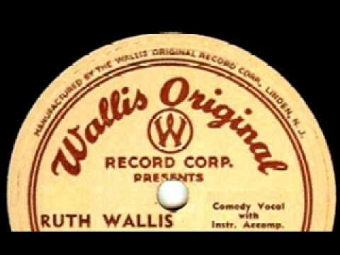 Tonight For Sure! by Ruth Wallis on 1953 Wallis Original 78.