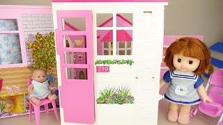 Baby doll house bed and washing room play baby Doli house