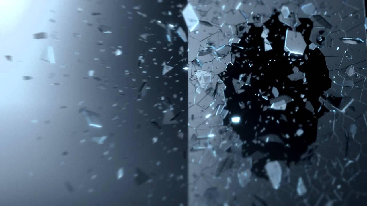 glass breaks particle flow test 01   3dsmax