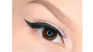 How to Apply Liquid Eyeliner / Рисуем стрелки жидкой подводкой(Как правильно и быстро рисовать стрелки на глазах с помощью жидкой подводки TheBalm Schwing Black Liquid Eyeliner за 1 минуту..., 2014-11-19T20:10:42.000Z)