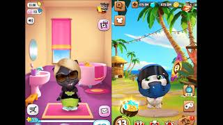 MY Talking Angela and Hеnk want to use the toilet!