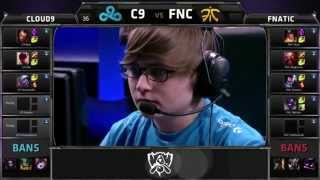 C9 vs FNC - 2015 World Championship Week 1 Day 4 - Cloud 9 vs FNATIC