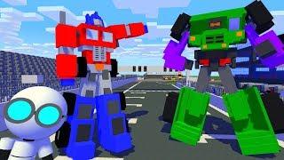 Monster School : BREWING ROBOT TRANSFORMERS CHALLENGE - Minecraft Animation