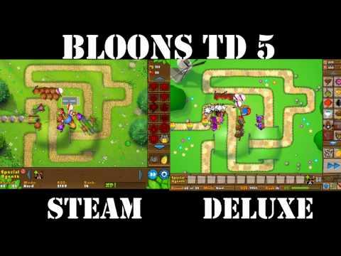 BTD5 Deluxe vs. Steam - Side by Side Comparison