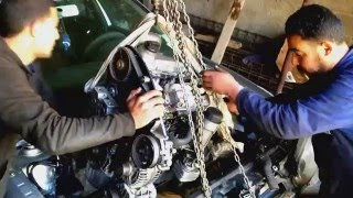 montage moteur volkswagen  golf 4
