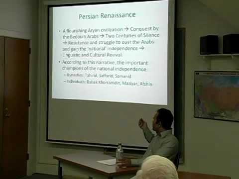 """Brownbag: """"Persian Renaissance...Tajik National Identity"""" -Razi Ahmad (4/19/11)"""
