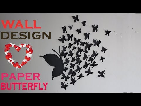 Paper Butterfly Wall Hanging   Wall decor ideas   Room decor ideas   Crafts World