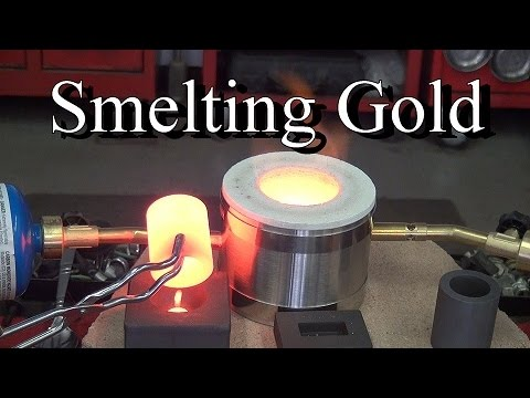 SMELTING GOLD !!!! From Our Secret Gold Mine... ask Jeff Wil
