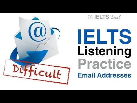 IELTS Listening Practice - Email Addresses