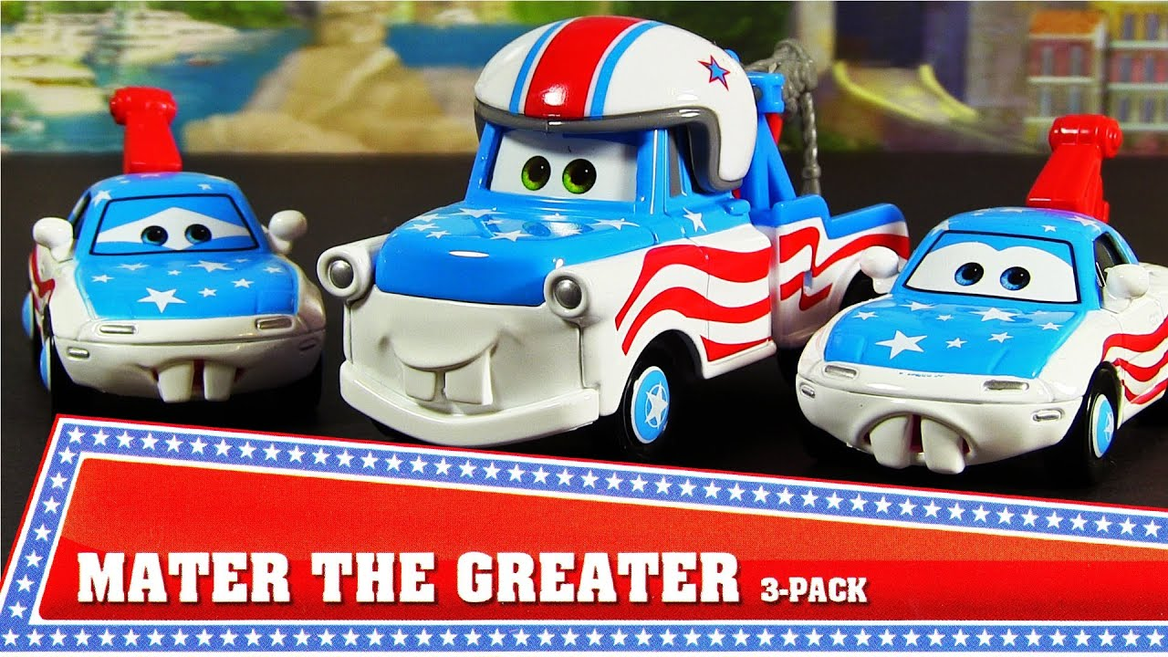 MATER THE GREATER Cars Toon Walmart 3 Pack 2013 Disney