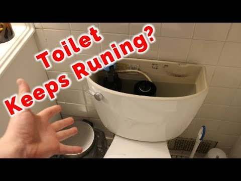 How To Fix A Toilet That Keeps Running By Replacing The