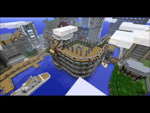 Minecraft Timelapse : Commerce Building / Train Station