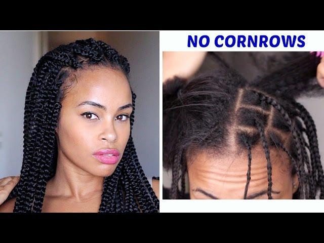 Easy Crochet Box Braids No Cornrows Versatile Styles Natural Hair Youtube