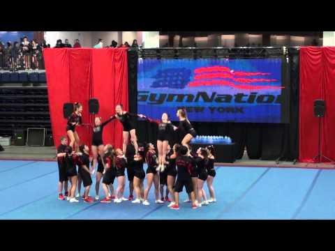 3-24-13 All Star Cheer Comp @ Lincroft, NJ - Sr4 - Gym Nation