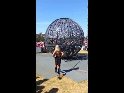 The Globe of Death at the 2014 Australian Formula 1 gp in Melbourne