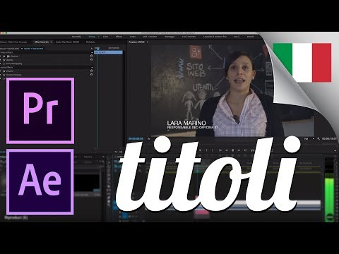Titoli professionali con After Effects tutorial in Italiano