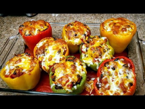 How to make the BEST Stuffed Bell Peppers on Earth | Vegetarian style | The simple way