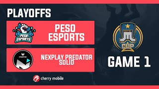 Just ML Cup Playoffs Peso Esports vs NXP Solid Game 1 (BO3) | Just ML Mobile Legends