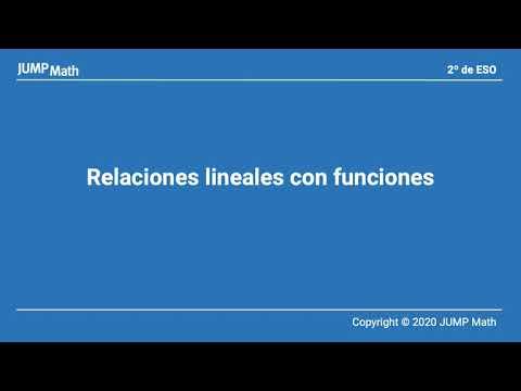 2. Unidad 8. Relaciones lineales con funciones