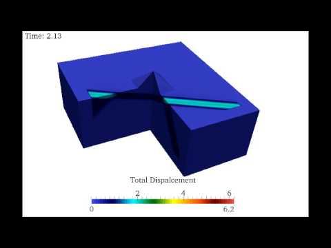 Wave propagation in a three-dimensional pyramid