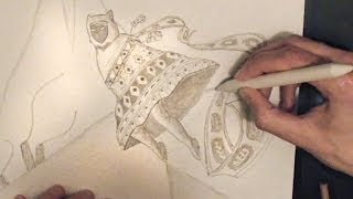 ASMR Drawing and Whispering Ear to Ear