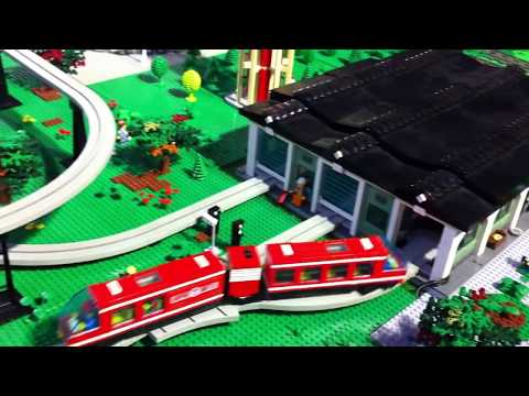 LEGO NXT monorail depot and trains table at KidsFest Prague 2015