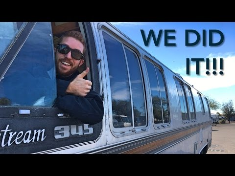 Driving a Vintage Airstream Motorhome + RV Boondocking on BLM Land