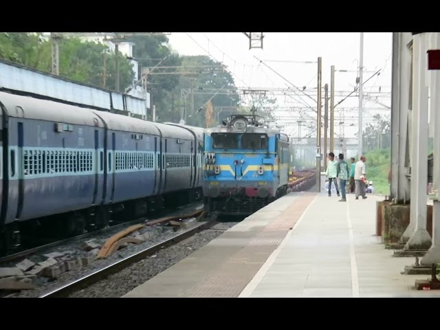 Funny : CONCOR (Goods) Train Overtakes Saurashtra Express : Only 6 Containers : INDIAN RAILWAYS