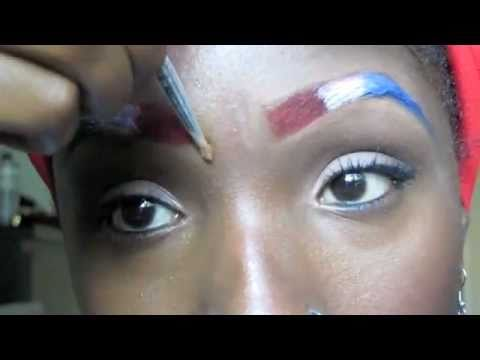 FOURTH OF JULY MAKEUP TUTORIAL : PATRIOTIC EYEBROWS